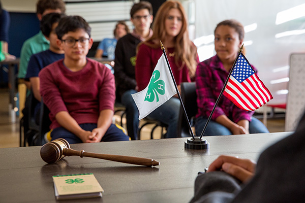 Youth at a 4 H meeting