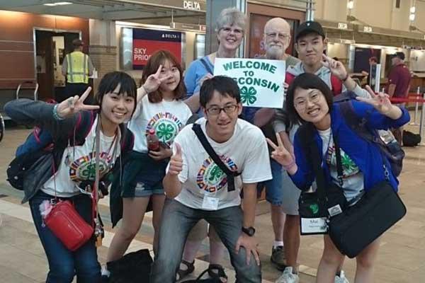 Korean international program youth arriving at airport