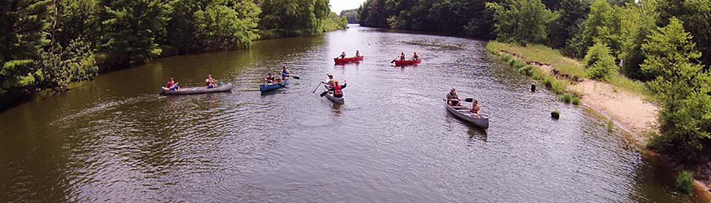 youth canoeing on the Wisconsin River