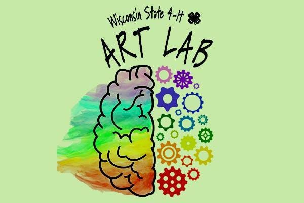 Wisconsin State 4-H Art Lab logo