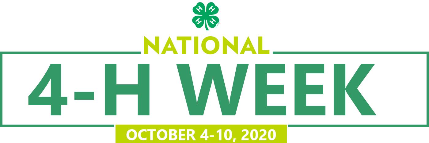 National 4-H Week October 4-10, 2020